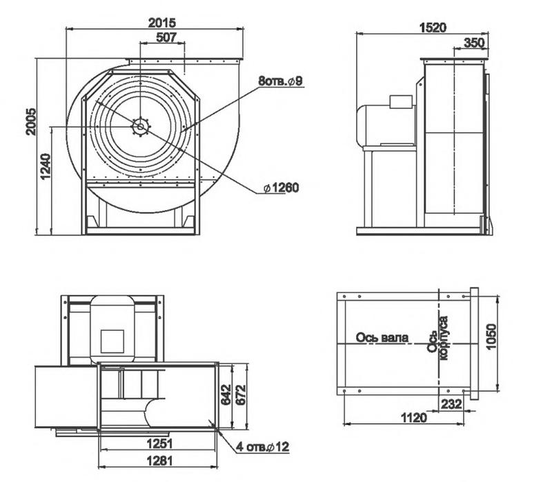 RAD 100-1120/RAD 100-1120-SE размеры