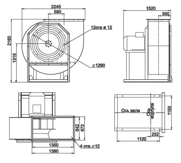 RAD 100-1250/RAD 100-1250-SE размеры