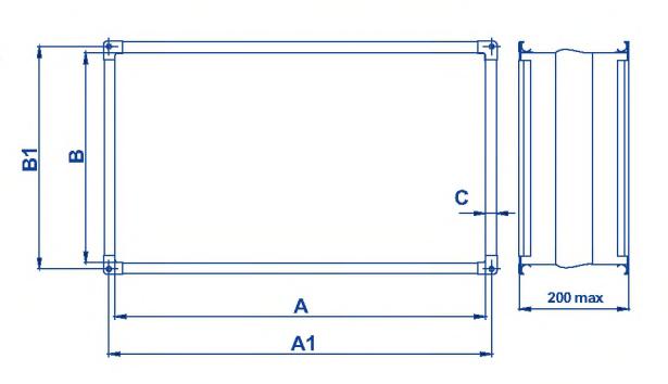 Вставка гибкая FLR (к нагнетательному патрубку) размеры