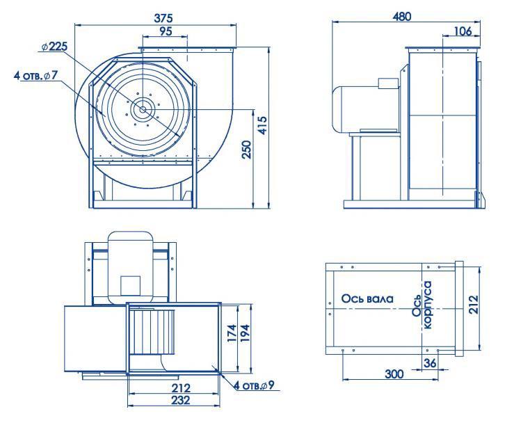 RAD 300-200/RAD 300-200-SE размеры
