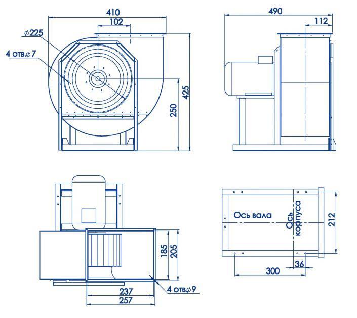 RAD 300-225/RAD 300-225-SE размеры