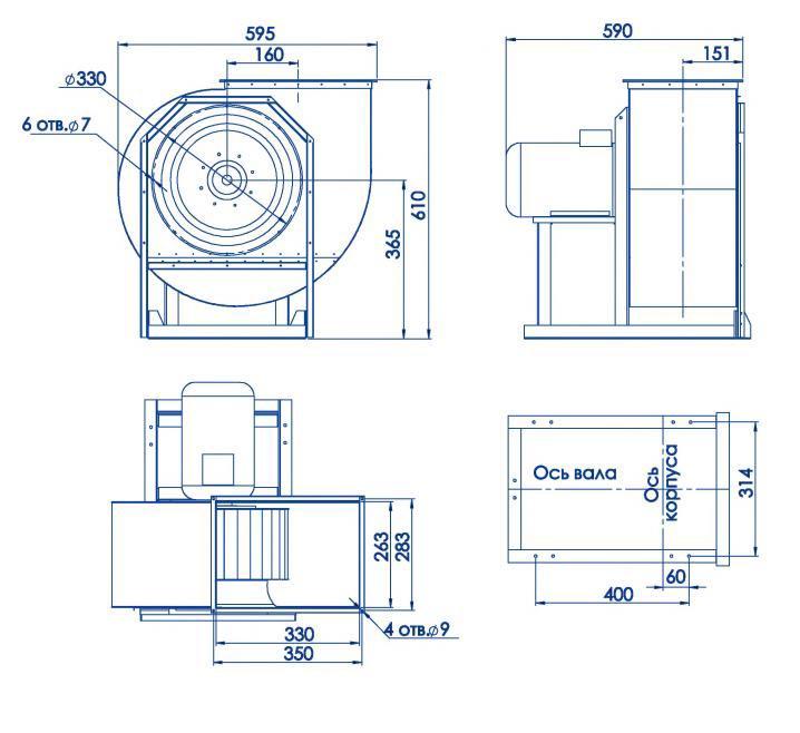 RAD 300-315/RAD 300-315-SE размеры