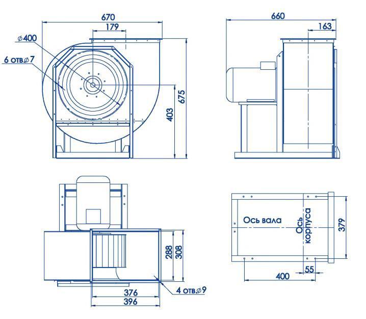 RAD 300-355/RAD 300-355-SE размеры