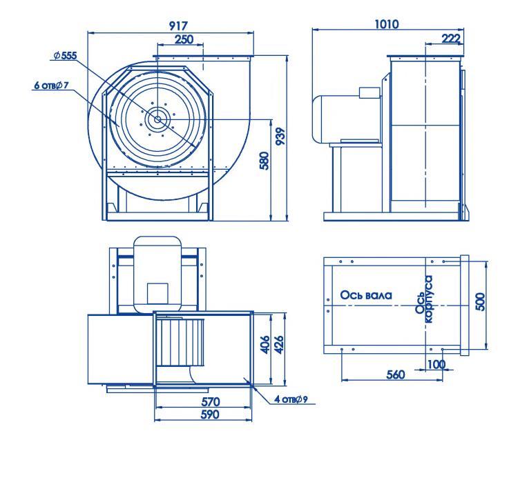 RAD 300-500/RAD 300-500-SE размеры