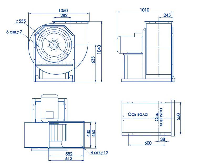 RAD 300-560/RAD 300-560-SE размеры