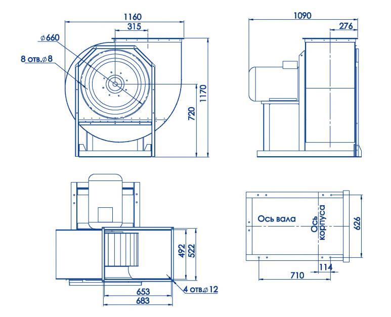 RAD 300-630/RAD 300-630-SE размеры