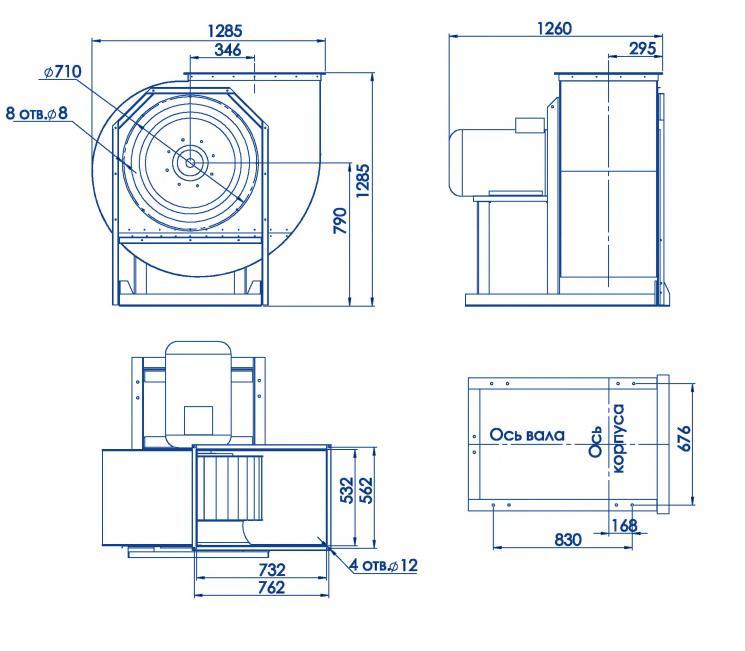RAD 300-710/RAD 300-710-SE размеры