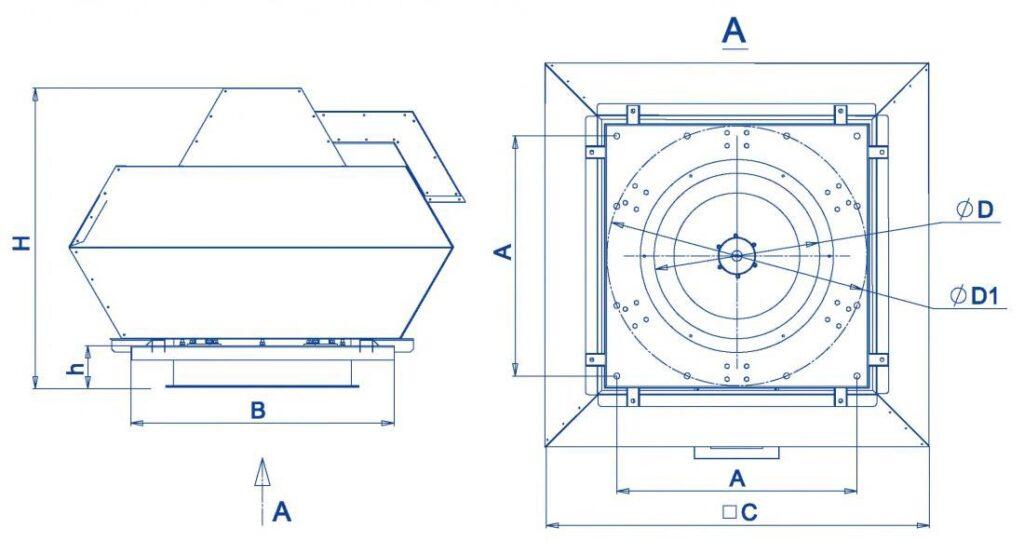 Габаритные и присоединительные размеры RFF/RFF-SE