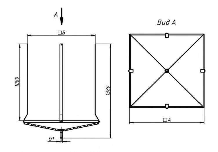 Поддоны DRAP габаритные и присоединительные размеры