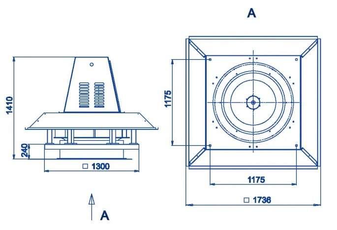 RFS-1000/RFS-1000-SE габаритные и присоединительные размеры