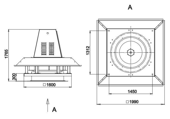 RFS-1120/RFS-1120-SE габаритные и присоединительные размеры