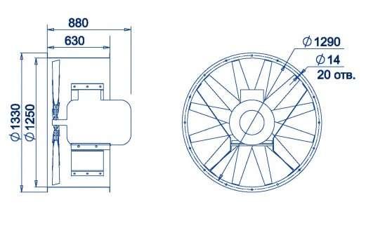 AXF-1250 размеры