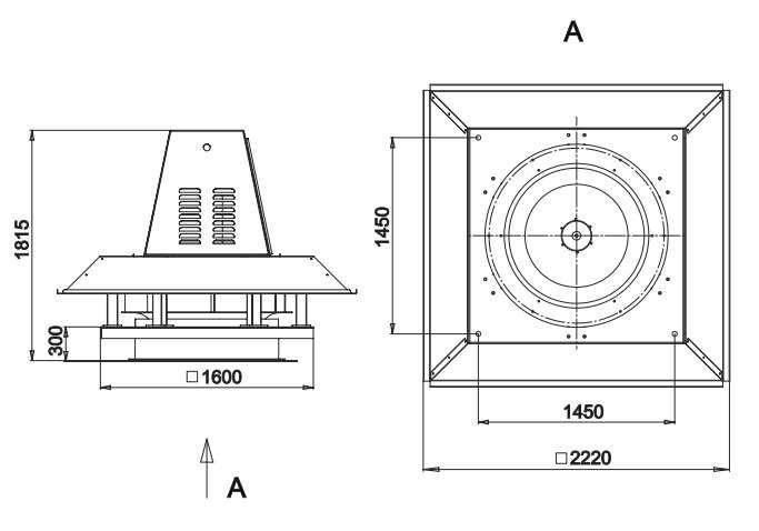 RFS-1250/RFS-1250-SE габаритные и присоединительные размеры