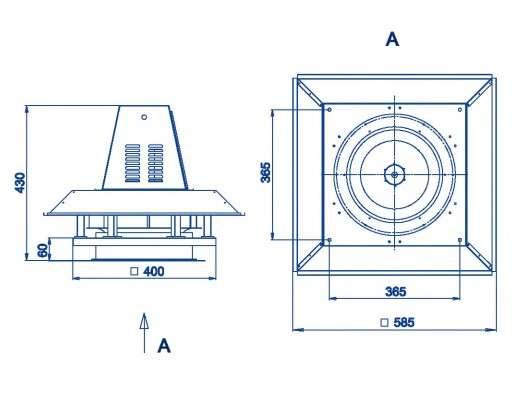 RFS-280/RFS-280-SE габаритные и присоединительные размеры