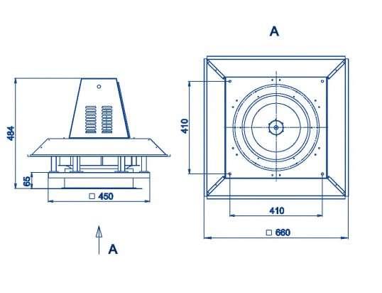 RFS-315/RFS-315-SE габаритные и присоединительные размеры