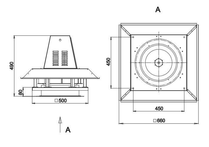 RFS-355/RFS-355-SE габаритные и присоединительные размеры