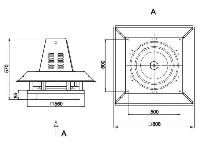 RFS-400/RFS-400-SE габаритные и присоединительные размеры