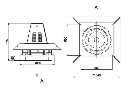 RFS-450/RFS-450-SE габаритные и присоединительные размеры