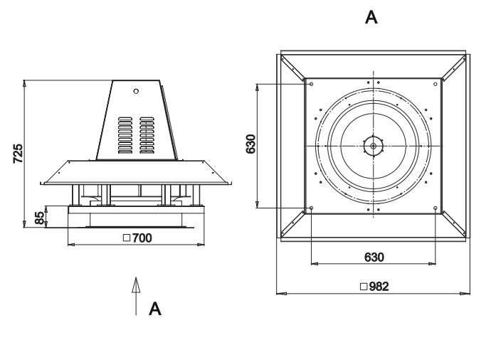 RFS-500/RFS-500-SE габаритные и присоединительные размеры