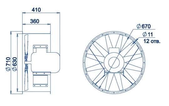 AXF-630 размеры