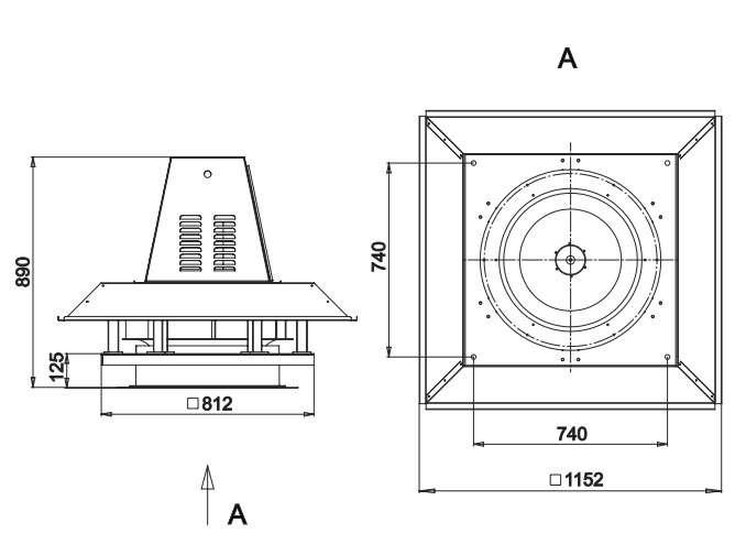 RFS-630/RFS-630-SE габаритные и присоединительные размеры
