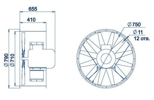 AXF-710 размеры