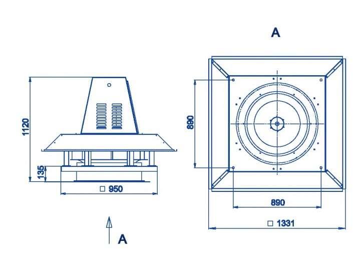 RFS-710/RFS-710-SE габаритные и присоединительные размеры