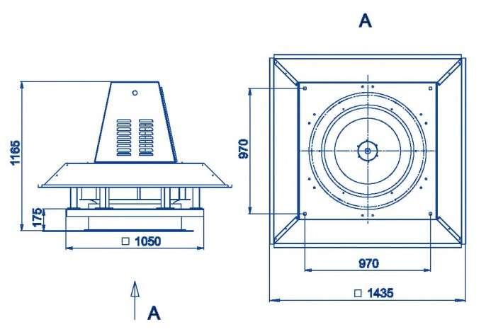 RFS-800/RFS-800-SE габаритные и присоединительные размеры