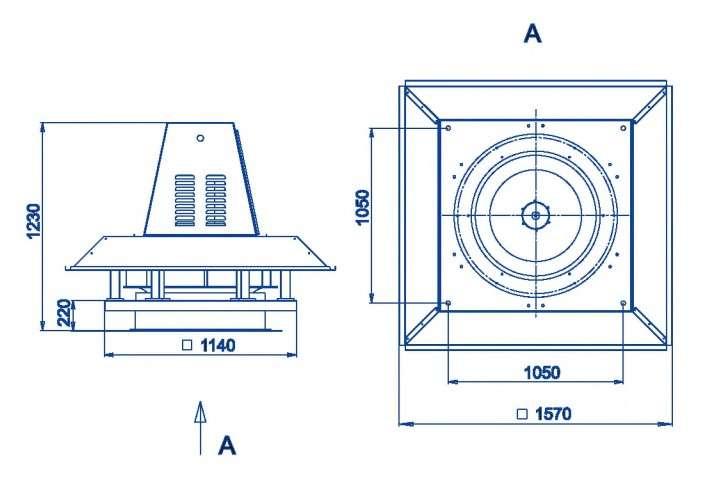 RFS-900/RFS-900-SE габаритные и присоединительные размеры