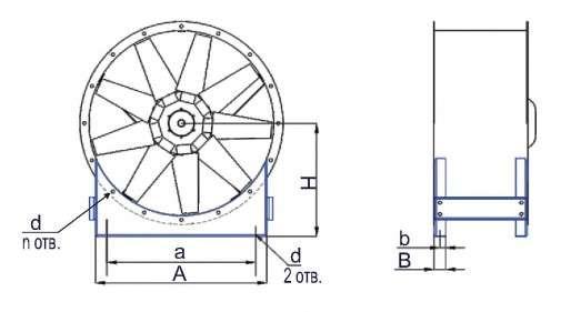 SL-AXF Габаритные и присоединительные размеры