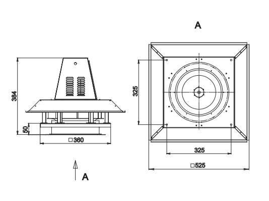 RFS-250/RFS-250-SE габаритные и присоединительные размеры